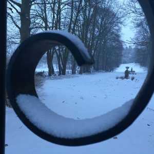 Winterview at castle in Gronsveld