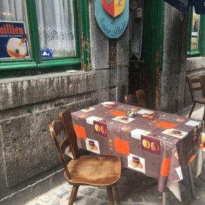 Terrace in Liege, Belgium